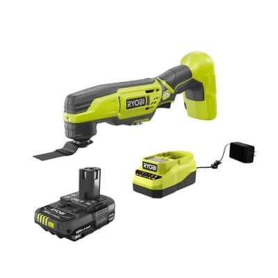 RYOBI ONE+ 18-Volt Cordless Multi-Tool with 2.0 Ah Battery and Charger