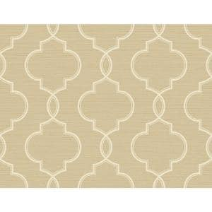 Kenneth James Malo Wheat Sisal Ogee Vinyl Strippable Wallpaper Covers 60 8 Sq Ft 2765 Bw40507 The Home Depot