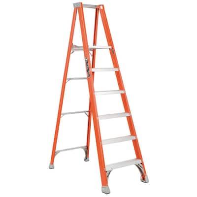 6 ft. Fiberglass Platform Step Ladder with 300 lbs. Load Capacity Type IA Duty Rating