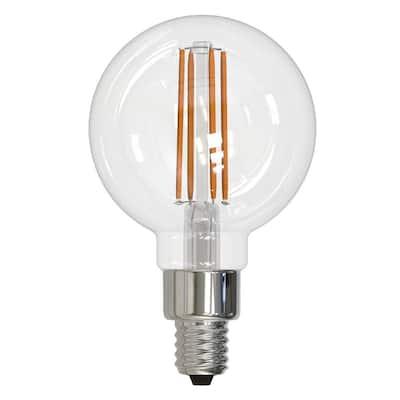 40-Watt Equivalent G16 Clear Dimmable Edison LED Light Bulb Soft White (3-Pack)