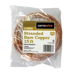 15 ft. 4/1 Stranded Bare Copper Grounding Wire
