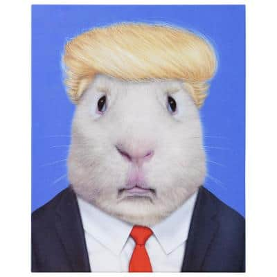 """""""Stable Genius"""" Graphic Rat Art Print on Wrapped Canvas Wall Art 20 in. x 16 in."""
