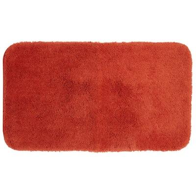 Pure Perfection Terra Cotta 20 in. x 60 in. Nylon Machine Washable Bath Mat