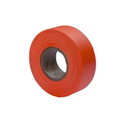 1-3/16 in. x 150 ft. Fluorescent Orange Flagging Tape (12-pack)
