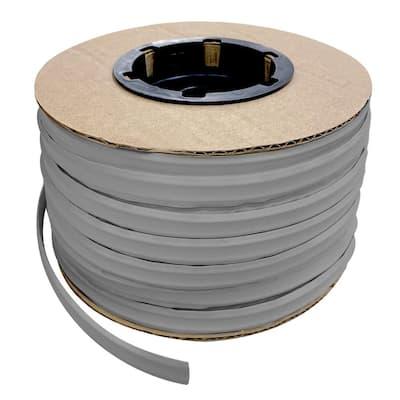 1/2 in. x 100 ft. Grey PVC Inside Corner Self-Adhesive Flexible Caulk and Trim Molding