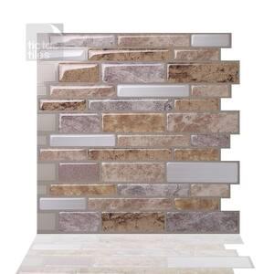Polito Fresco 10 in. W x 10 in. H Peel and Stick Self-Adhesive Decorative Mosaic Wall Tile Backsplash (10-Tiles)