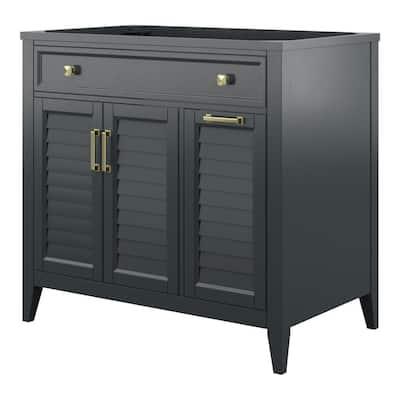 Callen 36 in. W x 21.5 in. D x 34 in. H Bath Vanity Cabinet Only in Charcoal Grey