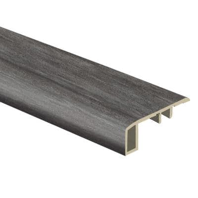 Catalina Grey 7/16 in. Thick x 1-3/4 in. Wide x 72 in. Length Vinyl Carpet Reducer Molding