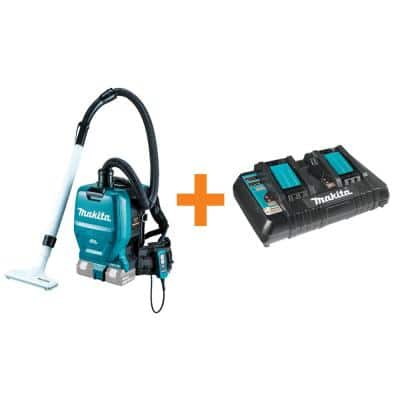 18-Volt X2 LXT 36-Volt Brushless 1/2 Gal. HEPA Cordless Backpack Vacuum Tool-Only with Bonus 18-Volt Dual Port Charger