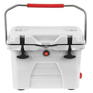 20-Quart High-Performance Cooler with Lockable Lid in Marine White