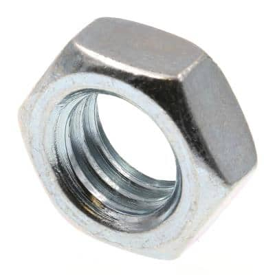 1/2 in.-13 A563 Grade A Zinc Plated Steel Hex Jam Nuts (25-Pack)