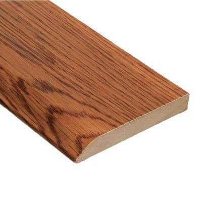 Oak Gunstock 1/2 in. Thick x 3-1/2 in. Wide x 94 in. Length Wall Base Molding
