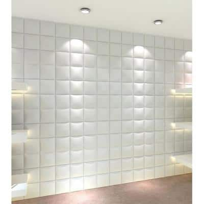 19.6 in. x 19.6 in. x 1 in. Off-White Plant Fiber Forever Design Glue-On Wainscot Wall Panels (10-Pack)