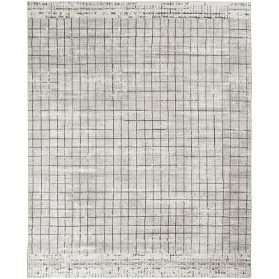 Concerto Ivory/Grey 8 ft. x 10 ft. Abstract Contemporary Area Rug