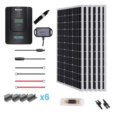 600-Watt 12-Volt Monocrystalline Solar Premium Kit with Rover 60 Amp Charger Controller