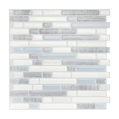 Bellagio Costa White / Gray 10.06 in. x 10.00 in. Vinyl Peel and Stick Tile (2.65 sq. ft. / 4-pack)