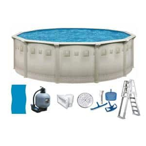Palisades 15 ft. Round 52 in. D Above Ground Hard Sided Pool Package