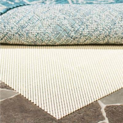 Outdoor Creme 2 ft. x 8 ft. Non-Slip Rug Pad