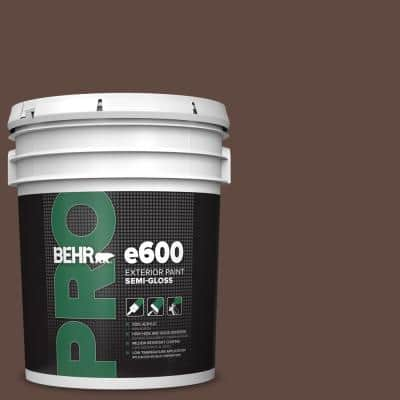 5 gal. #N150-7 Chocolate Therapy Semi-Gloss Acrylic Exterior Paint