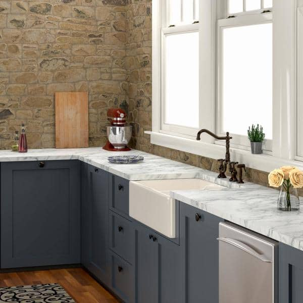 Pegasus Farmhouse Apron Front Fireclay 32 In 1 Hole Double Bowl Kitchen Sink Bisque Fs31 Bq The Home Depot