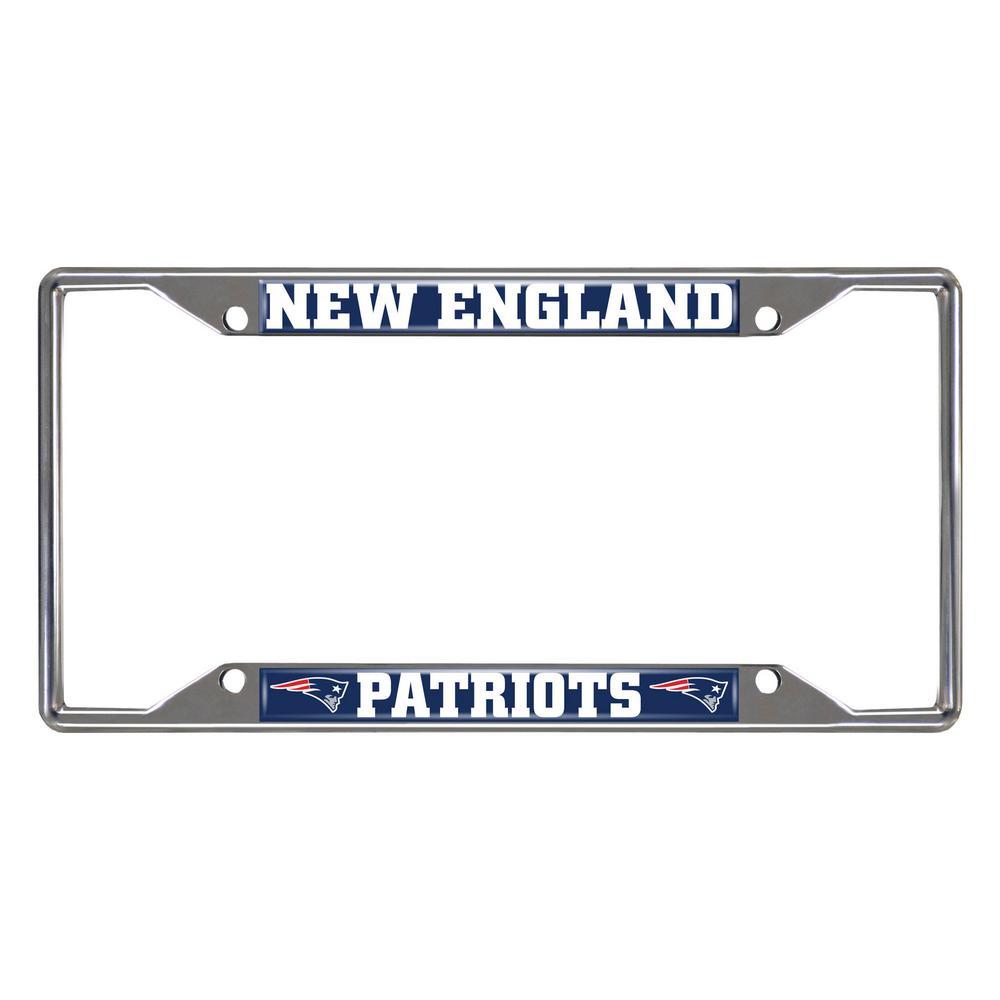 NFL - New England Patriots Chromed Stainless Steel License Plate Frame