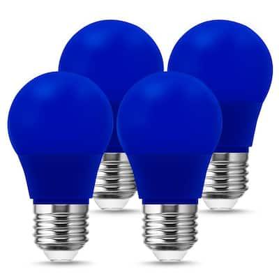 20-Watt Equivalent A15 3-Watt Non-Dimmable Blue LED Colored Light Bulb E26 Base (4-Pack)