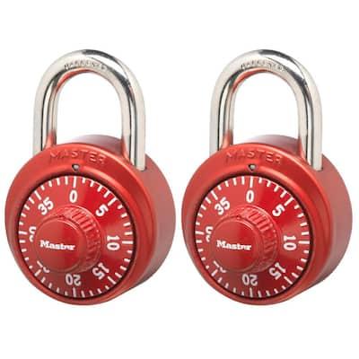 Preset 3-Digit Dial Combination Padlock (2-Pack)