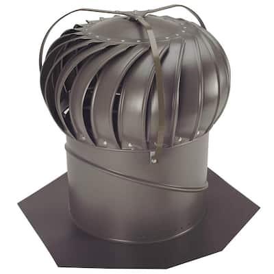 14 in. Weathered Bronze Aluminum Externally Braced Whirlybird Wind Turbine