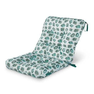 Vera Bradley 21 in. W x 19 in. D x 22.5 in. H x 5 in. Thick Patio Chair Cushion in Seawater Palm