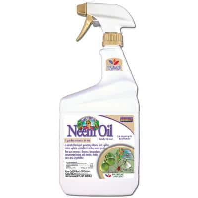 32 oz Neem Oil Fungicide, Miticide, & Insecticide Ready-To-Use