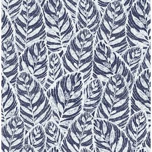 Del Mar Indigo Botanical Indigo Wallpaper Sample