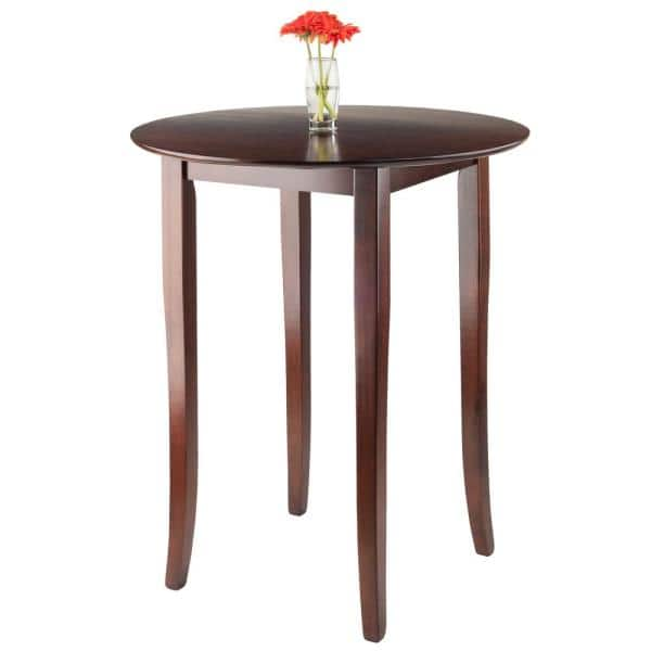 Winsome Wood Fiona Walnut High Round, High Round Tables