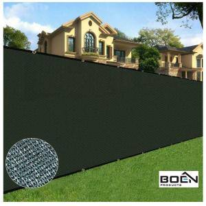 6 ft. X 50 ft. Black Privacy Fence Screen Netting Mesh with Reinforced Grommet for Chain link Garden Fence