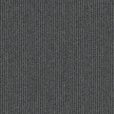 Merrick Brook Seal Patterned 24 in. x 24 in. Carpet Tile (24 Tiles/Case)