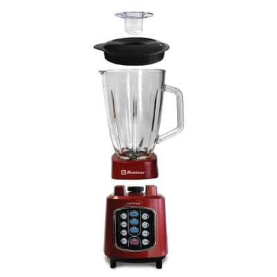 Kitchen Magic Collection 50 oz. 10-Speed Red Easy Touch Blender