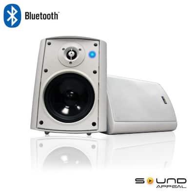 Bluetooth BT Blast 5.25 Indoor/Outdoor Weatherproof Patio Speakers (White- Pair)