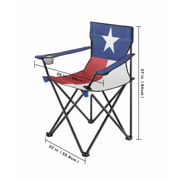 NEW Texas Flag Red White and Blue Steel Folding Lawn Chair