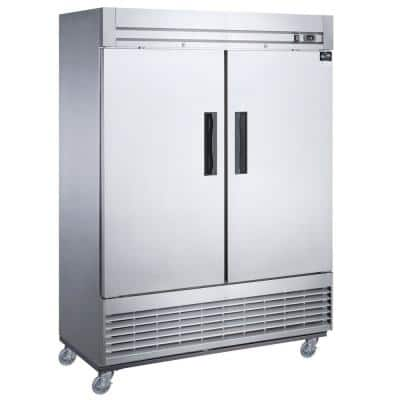 40.7 cu. ft. Auto-Defrost Commercial Upright Reach-in Freezer in Stainless Steel