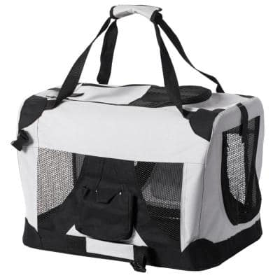 Soft-Sided Mesh Foldable Pet Travel Carrier, Airline Approved Pet Bag for Dogs and Cats
