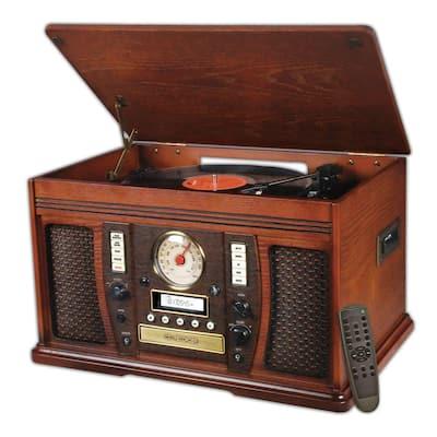 Aviator 7-in-1 Bluetooth Wooden Music Center