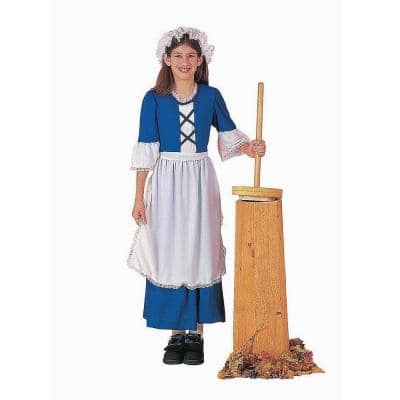 Large Girls Colonial Girl Kids Costume