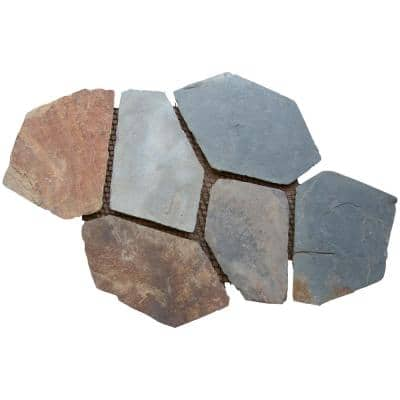 Santa Barbara 18 in. x 24 in. Natural Slate Meshed Flagstone Paver Tile (48 Pieces/132 sq. ft. /Pallet)