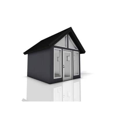 Installed Shed Rustica Series Escape 10 ft. x 12 ft. Backyard Studio with Painted Wood Siding