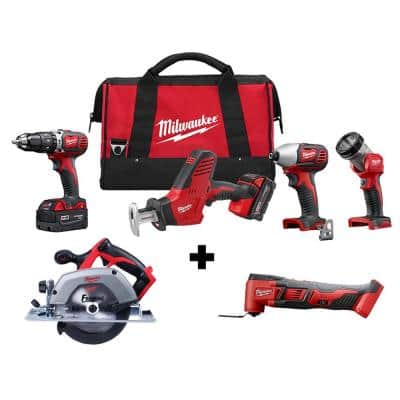 M18 18-Volt Lithium-Ion Cordless Combo Tool Kit (4-Tool) w/ 6-1/2 in. Circular Saw and Multi Tool