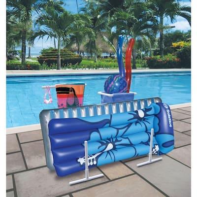 White Plastic Swimming Pool Mesh Bag Toys Poolside Organizer BNIB for Floats