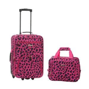 Rio Expandable 2-Piece Carry On Softside Luggage Set, Magentaleopard