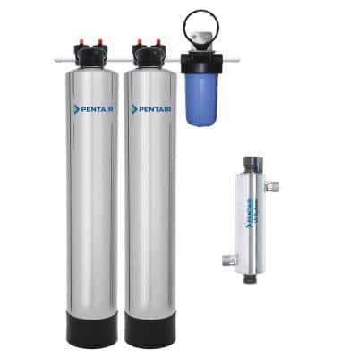 Whole House Filtration, NaturSoft Water Softener Alternative with 14 GPM UV System