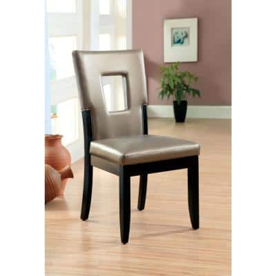 Evant I Black and Silver Contemporary Style Side Chair