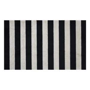 In-Home Washable/Non-Slip Farm House Stripes 2 ft. 3 in. x 3 ft. 11 in. Area Rug & Mat