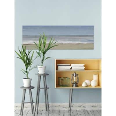 """20 in. H x 60 in. W """"Beach Walking Day III"""" by Marmont Hill Canvas Wall Art"""